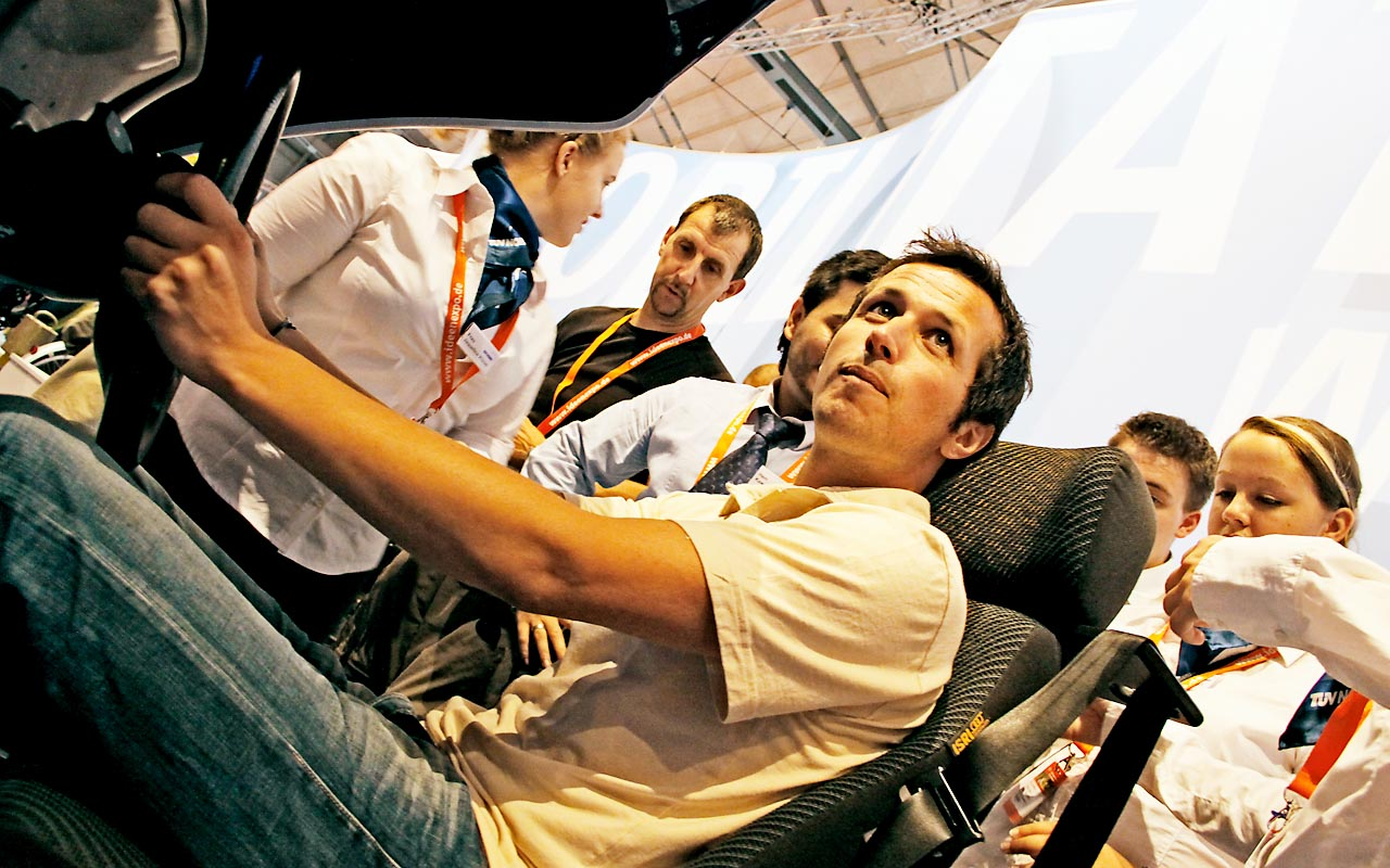 Ideen Expo - Willi wills wissen am Auto Simulator